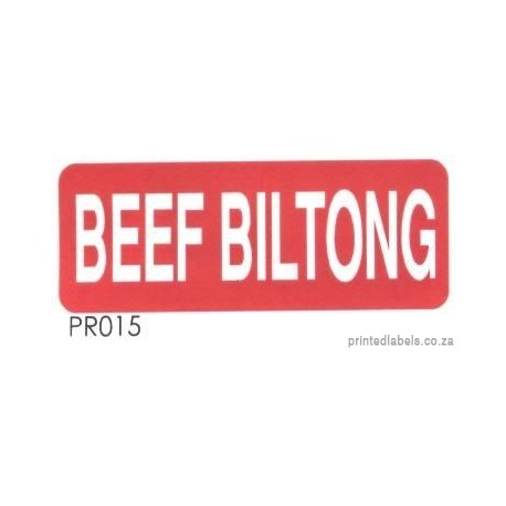 BEEF BILTONG - 1000 Full colour LABELS