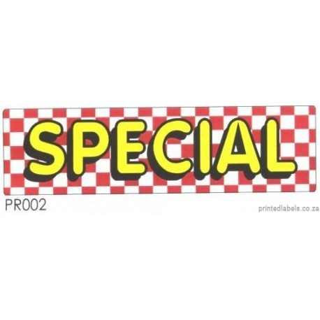 SPECIAL - 1000 Full colour LABELS