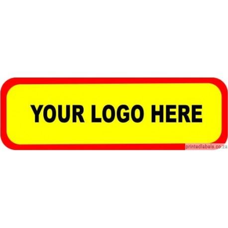 Rectangular -  Custom Labels add your LOGO