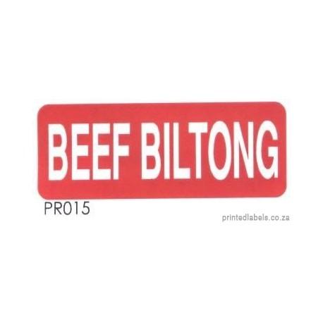 BEEF BILTONG - 1000 Full colour LABELS