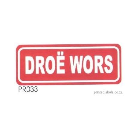 DROE WORS - 1000 Full colour