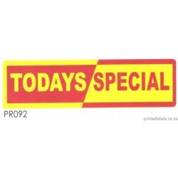 TODAYS SPECIAL - 2000 Full colour LABELS