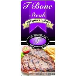 T Bone Steak - BUTCHER'S CHOICE - 1000 Full colour
