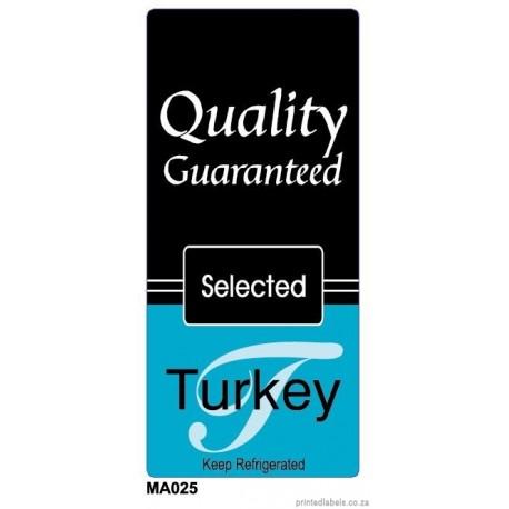 Turkey - Quality Guaranteed - 1000 Full colour